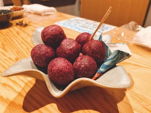 サツマイモのスイートボール